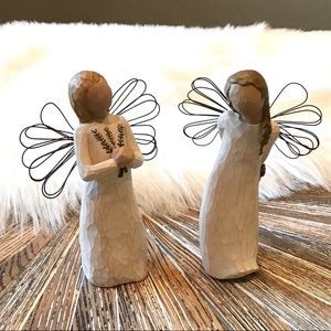 SET OF 2 WILLOW TREE ANGELS